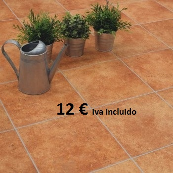 Porcelánico exterior antideslizante 1ª, 12€ iva incluido.