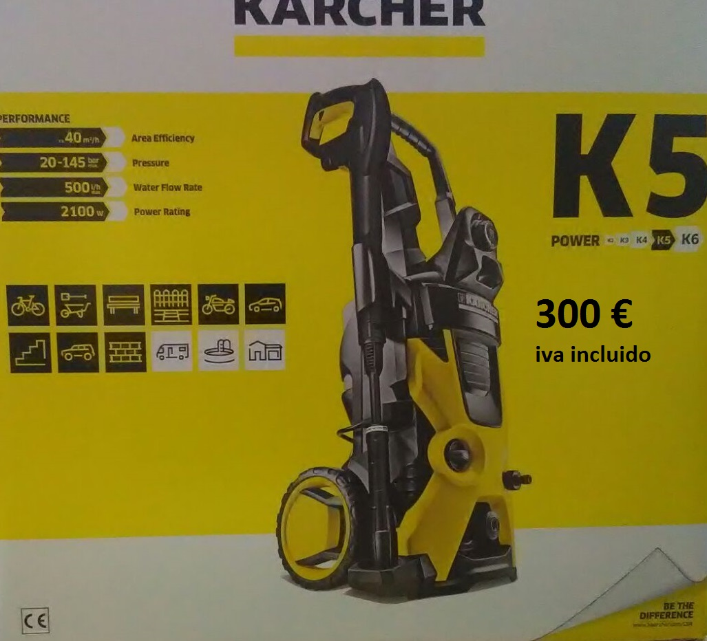 Karcher 300 € Iva incluido.